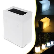 Waterproof Led Solar Light Fence Wall Lamp Outdoor Garden Landscape Light White Warm White Sale Banggood Com