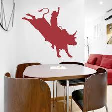 Bull Rider Wall Art Decal