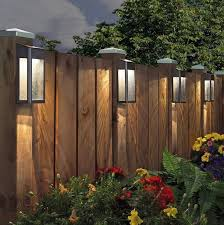 Garden Fence Decoration Ideas In 2020 Backyard Lighting Solar Fence Lights Backyard Fences