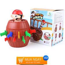 Trò chơi hải tặc giúp kích thích sáng tạo, luyện nhanh tay tinh mắt phù hợp cho  trẻ từ 2 tuổi trở lên