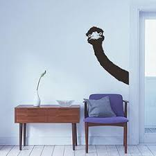 Bibitime Long Neck Ostrich Wall Decal Animal Head