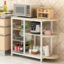 cart baker cabinet basket storage