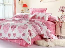 white and pink 4 piece bedding sets