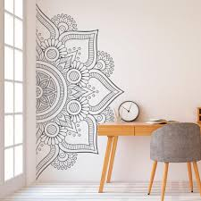 Half Mandala Wall Decal Sticker For Bedroom Modern Design Pattern Vinyl Art Self Adhesive Wall Stickers Home Room Decor Wall Saying Decals Wall Sayings From Joystickers 9 86 Dhgate Com