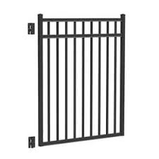 Freedom Common 4 5 Ft X 4 Ft Actual 4 66 Ft X 3 875 Ft New Haven Black Aluminum Decorative Fence Gate Brickseek