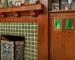 craftsman family room wood and tile art