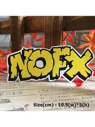 Nofx Rock Band Hipster Waterproof Die Cut Decal Vinyl Sticker Skullangel Unique Handmade Clothing Embroidered Patches Waterproof Stickers For Diy Projects