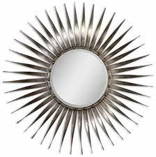 sunburst starburst wall mirror