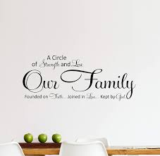 Amazon Com Family Quote Strength And Love Wall Decal Quote Mural Decor Loft Decoration Home Kitchen