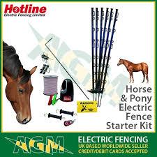 Sport En Vakantie Electric Fencing Starter Kit Energiser Fence Posts 12mm Poly Tape Horse Pony Tabrizeman Ir