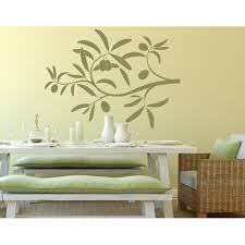 Olive Branch Wall Decal Floral Wall Decal Sticker Mural Vinyl Art Home Decor 4560 Gray 39in X 29in Walmart Com Walmart Com