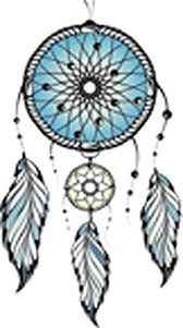 Amazon Com Pretty Aqua Blue Dream Catcher With Feathers Vinyl Decal Sticker 4 Tall Arts Crafts Sewing