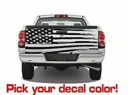 Auto Parts And Vehicles Usa Black American Flag Perforated Vinyl Decal Truck Rear Window Stickertattered Car Truck Graphics Decals