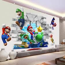 Bowser Super Mario Bros 3d Window Decal Wall Sticker Home Decor Art Mural J1023 Home Garden Children S Bedroom Boy Decor Decals Stickers Vinyl Art
