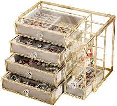 hersoo glass mirrored jewelry box
