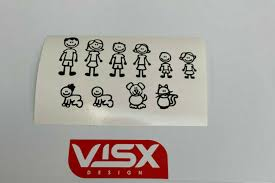 Stick Figure Family Silhouette Vinyl Decal Car Stickers Window Truck Stickman For Sale Online Ebay