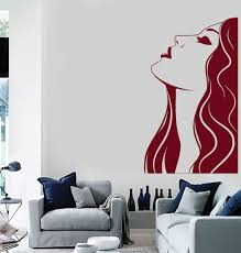 Vinyl Wall Decal Woman Beauty Salon Hair Stylist Hairdresser Art Stickers Unique Gift Ig4683 Vinyl Wall Decals Wall Decals Beauty Women