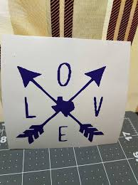 Love Arrows Texas Vinyl Decal Stickers For Yeti Cups Cars Walls Independence
