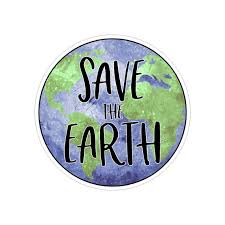 Save The Planet Mother Earth Vinyl Car Decal Sticker Etsy
