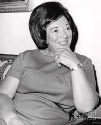 Mrs. Abraham Beame being interviewed. 1965 Photograph by Anthony Calvacca