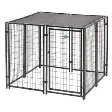 Fencemaster Cottageview 5 Ft X 5 Ft X 4 Ft Boxed Kennel Hbk11 11799 The Home Depot Dog Kennel Dog Kennel Outdoor Chain Link Dog Kennel