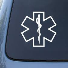 Star Of Life Medical Car Truck Notebook Vinyl Decal Sticker 2639 Vinyl Color White