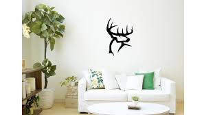 3d Printed Deer Head Wall Art By 3dprintlines Pinshape