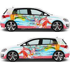 Japanese Anime Itasha Goodsmile Racing Miku Car Sticker Cartoon Auto Door Drift Racing Decal Ralliart Rally Stickers On Car Car Stickers Aliexpress
