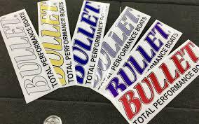 Rear Window Truck Suv Bullet Logo Decal Sticker