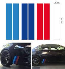 2set M Grill Skirt Stripe Bmw Motorsport Decal Sticker Vinyl 3 Color 300x50 Mm Bmw Car Exterior Vinyl Sticker