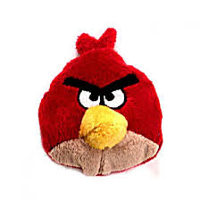 Angry Birds Red Bird 3 Bean Bag Plush Commonwealth Toys - ToyWiz