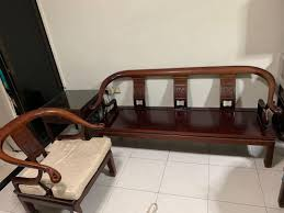 antiques chinese rose wood sofa set