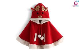 Áo choàng Noel tuần lộc bé gái – GIFTME.VN