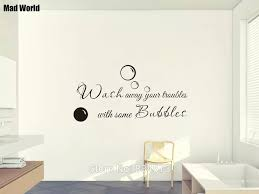 Wash Away Your Troubles With Some Bubbles Wall Art Stickers Wall Decal Home Diy Decoration Removable Room Decor Wall Stickers Decorative Wall Stickers Decoration Wallroom Decoration Aliexpress