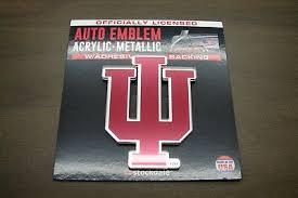 Indiana University Hoosiers Acrylic Metallic Laser Cut Car Emblem Sticker Decal Ebay
