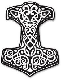 Amazon Com Ak Wall Art Thor S Hammer Viking Norse Ornament Vinyl Sticker Select Size Home Kitchen