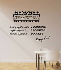 Vinyl Wall Decal Henry Ford Quote Motivational Words Teamwork Stickers 4267ig Ebay