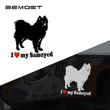 Bemost 5pcs Lot Car Accessories Styling Lovely I Love My Samoyed Dog Car Stickers Motorcycle Waterproof Vinyl Decals Car Accessories Vinyl Decaldog Car Stickers Aliexpress