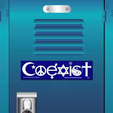 S001 Coexist Interfaith Symbols Peacemonger Original Peace Decal Bumper Sticker