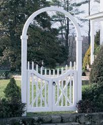 Double Gate With Arch Cellular Pvc Gate With Arch