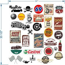 Product Automobile Themed Rat Look Sticker Bomb Decals Art Funny Shell Castrol