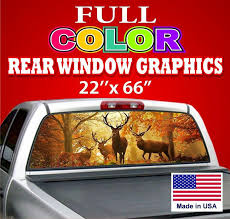 Sell One Deer Design Car Truck Window Graphics Tint Decals Prefotated Sign Motorcycle In Provo Utah Us For Us 39 99