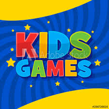 Kids Games Vector Background In Cartoon Style Bright Funny 3d Word Sign Colorful Graphic For Kids Game Room Children S Leisure Activities Buy This Stock Vector And Explore Similar Vectors At Adobe