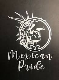Mexican Pride Car Window Bumper Decal Sticker Aztec Warrior Suv Truck Monogram Ebay