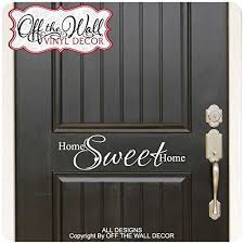 Home Sweet Home Front Door Vinyl Lettering Decal Sticker Hsh2 B01bjd3orc