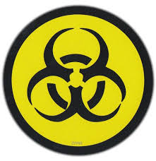 Bumper Sticker Bio Hazard Biohazard Quarantine Zombie Nuclear Fallout Kristen F Georgetz