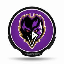 Baltimore Ravens Led Window Decal Light Up Logo Powerdecal Nfl Balmart Sports Merchandise