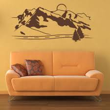 Mountains Wall Decal Style And Apply