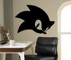 Buy Sonic Hedgehog Vinyl Decal Sonic Wall Vinyl Sticker Video Game Cartoons Home Interior Children Kids Room Decor 19 Snc In Cheap Price On M Alibaba Com