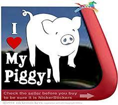 Amazon Com I Love My Piggy Pig Car Truck Window Decal Sticker Automotive